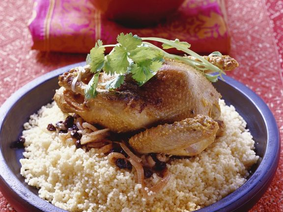 Squab with Couscous