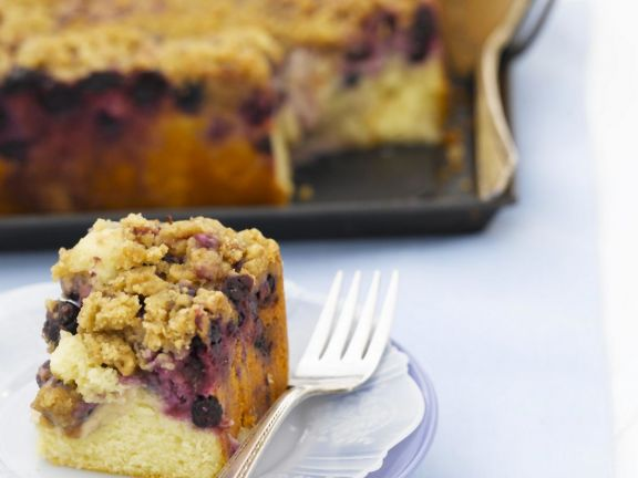 Square of Berry Crumble Cake