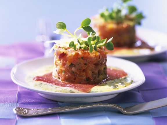 Squid Tartare with Herb Sauce