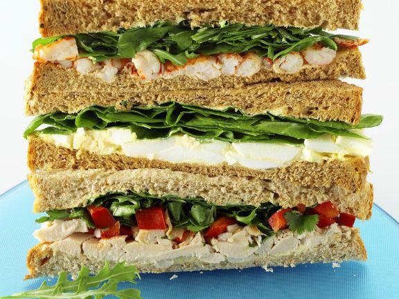 Stacked Sandwich Trio