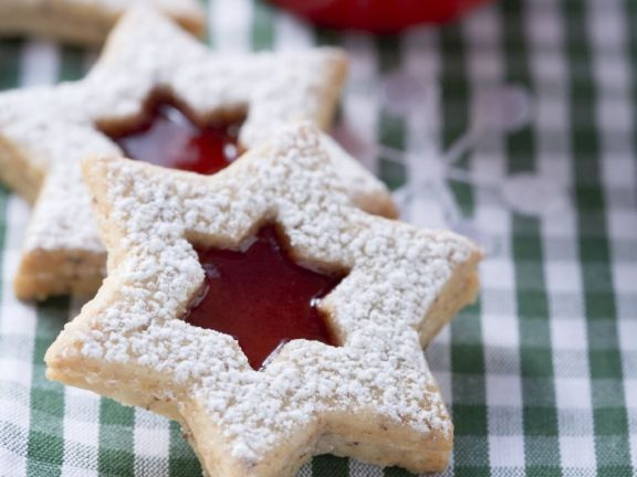 Star Cookies with Jam