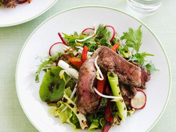 Steak and Scallion Salad