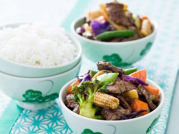 Steak and Veggie Wok-fry