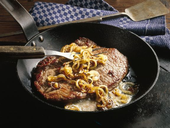 Gourmet Steak with Onions