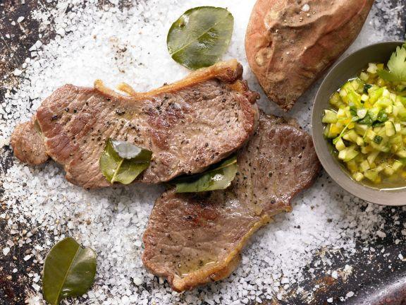 Steaks on a Bed of Salt