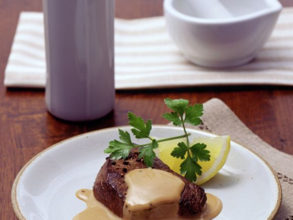 Steaks with Whiskey-cream Sauce