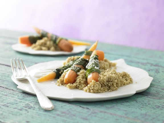Steamed Carrots and Wild Garlic
