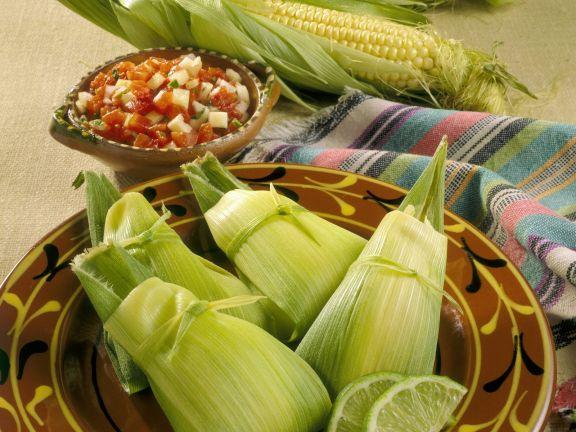 Steamed Mexican Corn Dumplings
