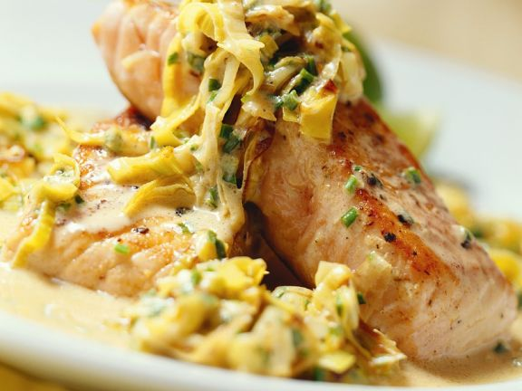 Steelhead Trout with Endive Sauce
