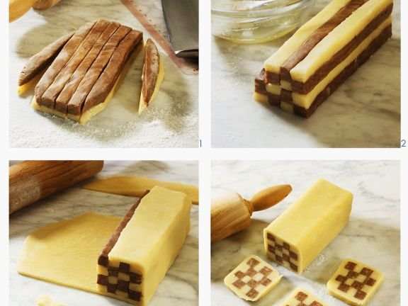 Step By Icebox Checkerboard Cookies