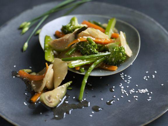 Stir-Fried Sesame Vegetables