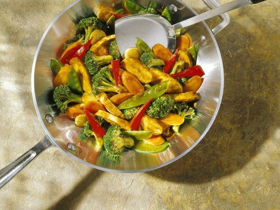Stir Fried Vegetables with Chicken