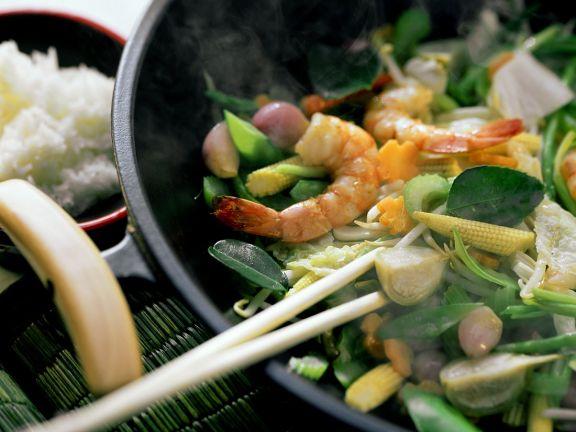 Stir-Fried Vegetables with Shrimp