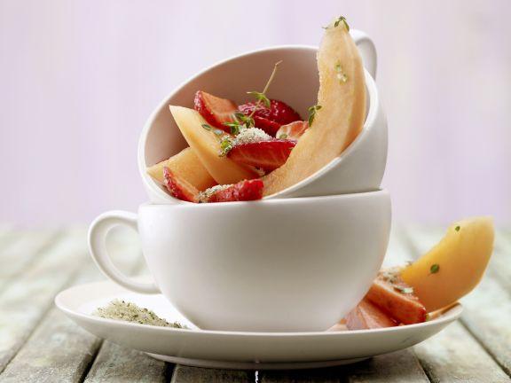 Strawberry and Melon Dessert Salad