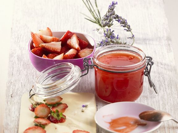 Strawberry Jelly with Lavender
