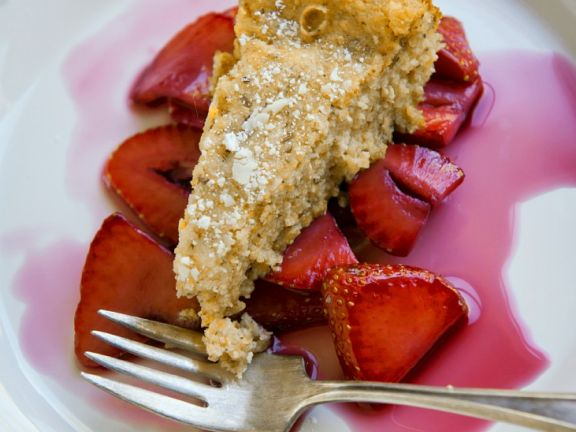 Strawberry Polenta Cake