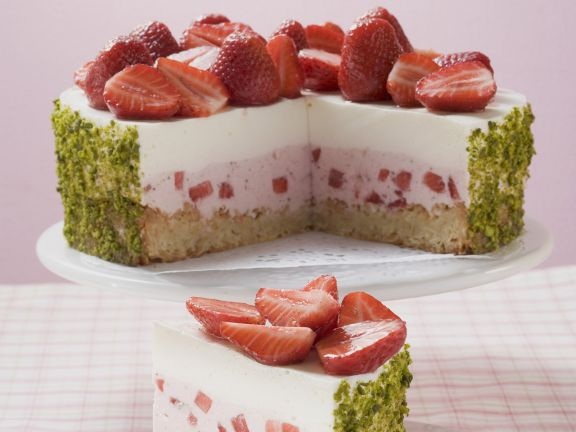 Strawberry Yogurt Cake with Pistachios