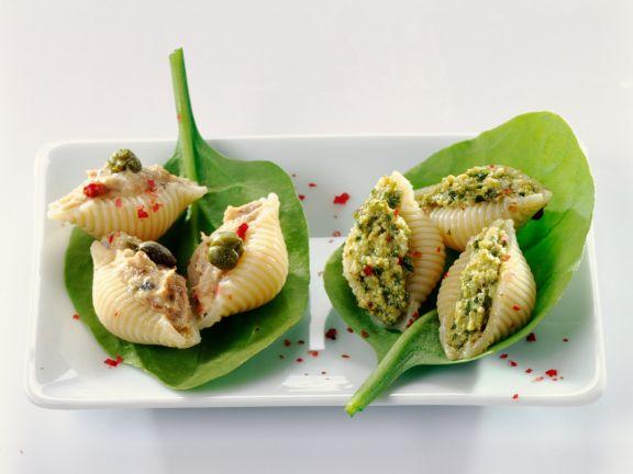 Stuffed Pasta Shells with Tuna and Pesto