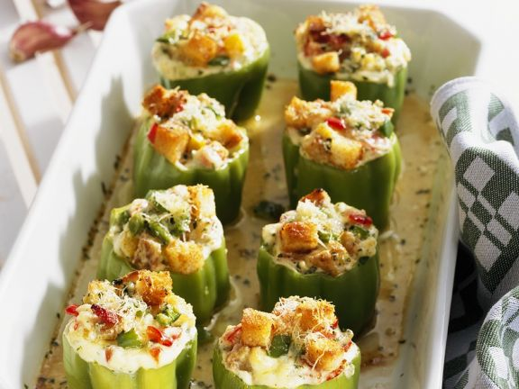 Stuffed Peppers with Herb Cheese and New Potatoes