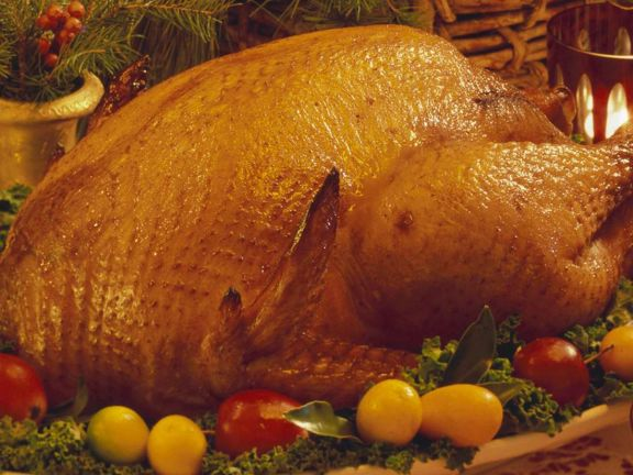 Stuffed Turkey from the Oven