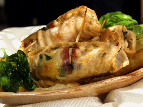 Stuffed Veal Rolls with Spinach