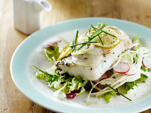 Summer Salad with Cod Fillets