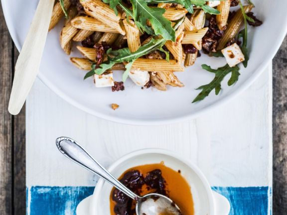 Sun Dried Tomato and Goat's Cheese Penne Salad
