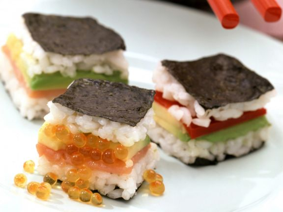 Sushi Style Sandwiches with Soy Sauce