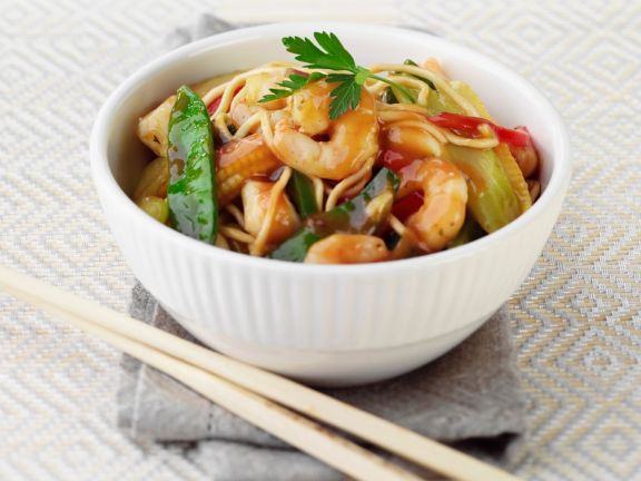 Sweet and Sour Shrimp with Noodles