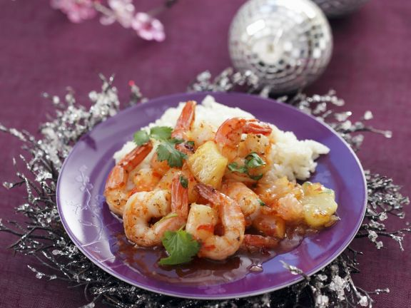 Sweet and Sour Shrimp with Rice