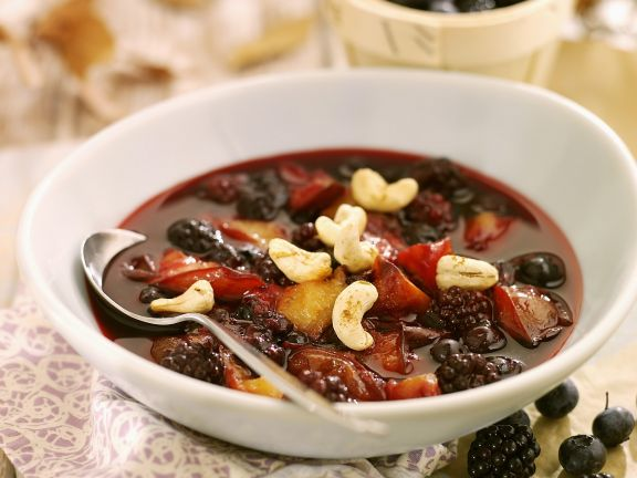 Sweet Berry Soup with Cashews