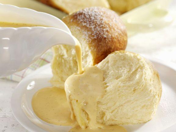 Sweet Bread with Vanilla Custard