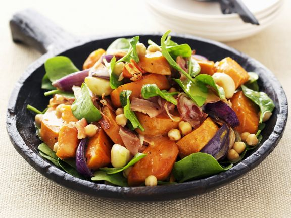 Sweet Potato and Spinach Salad