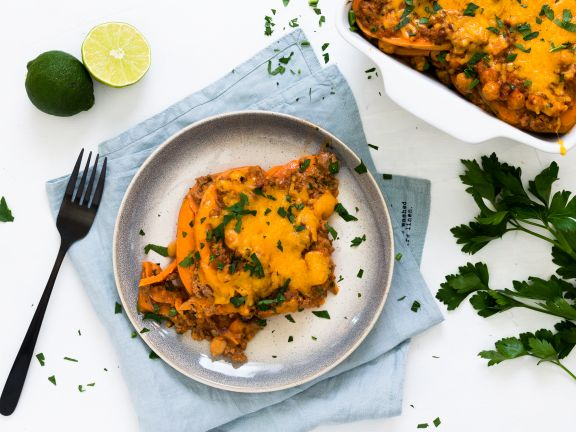 Sweet Potato Lasagna with Chickpeas