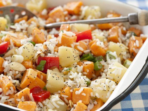 Sweet Potato Salad with Rice