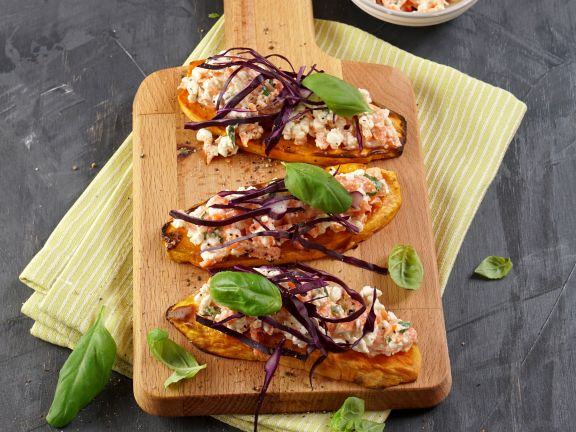 Sweet Potato Toast with Cottage Cheese