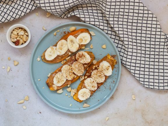 Sweet Potato Toast with Peanut Butter and Banana