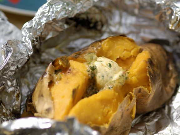 Sweet Potatoes with Herb Butter