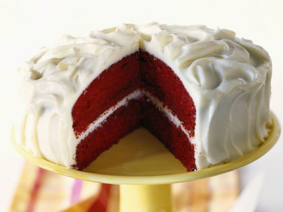 Sweet Red Velvet Gateau