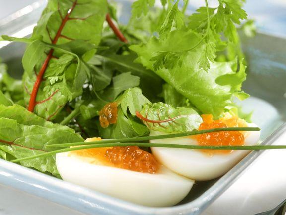 Swiss Chard Salad with Eggs