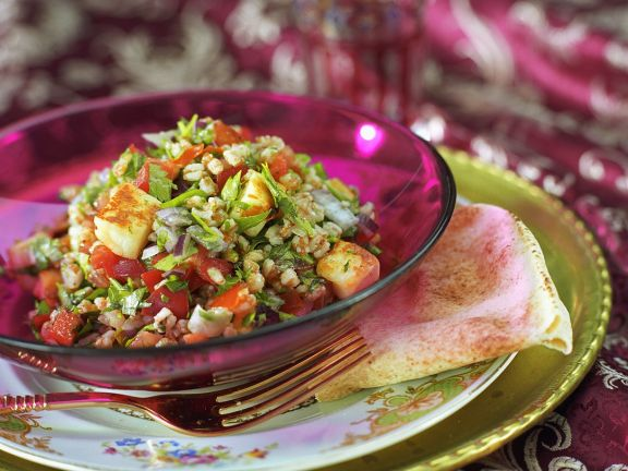 Tabbouleh with Halloumi Cheese