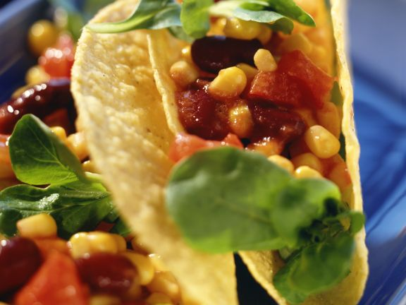 Tacos with Bean and Corn Filling