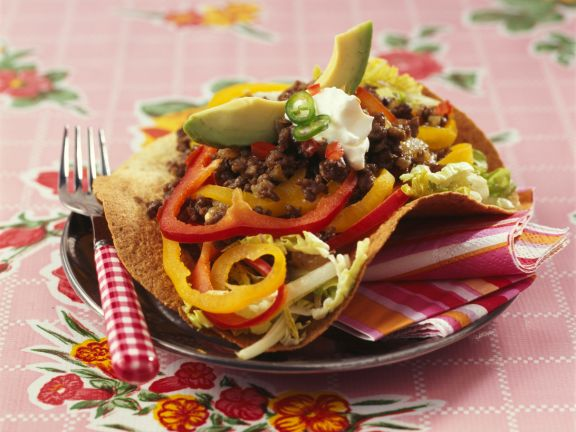 Tacos with Ground Beef and Peppers