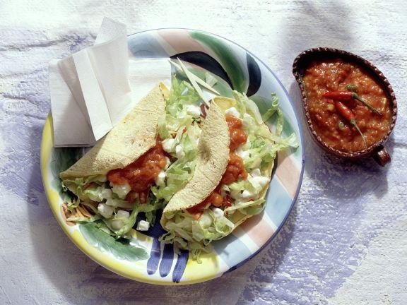Tacos with Salad and Mozzarella