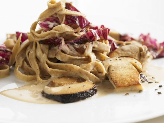 Tagliatele with Porcini Mushrooms and Radicchio