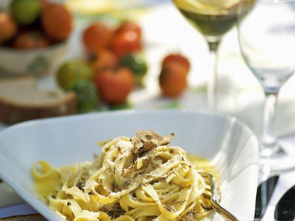 Tagliatelle Pasta with Freshly Ground Truffles