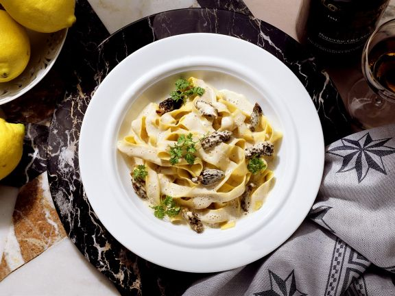Tagliatelle with Morel Mushroom Sauce