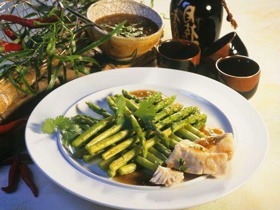 Thai Asparagus with Nile Perch