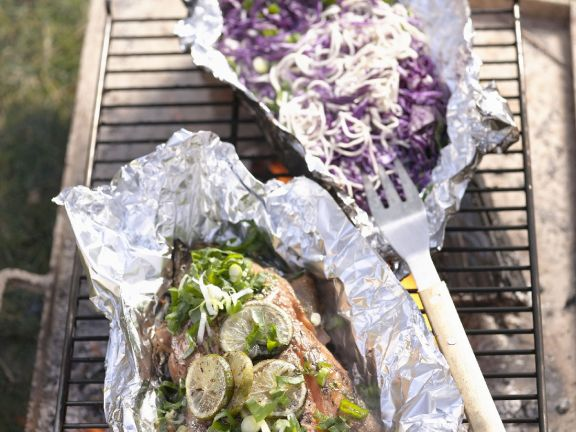 Thai BBQ Salmon with Cabbage