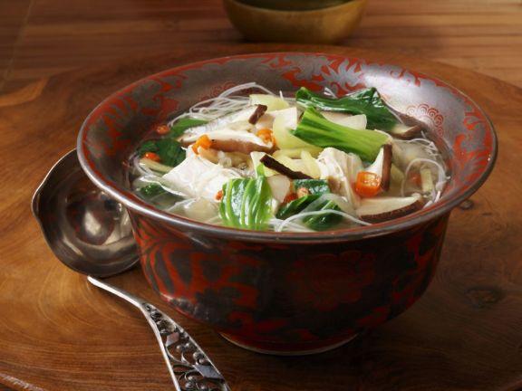 Thai Noodle Soup with Bok Choy